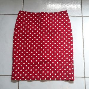 ~Talbots red and white polka dot pencil skirt~